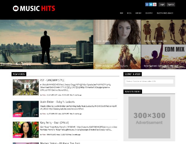 Video Website Template 2