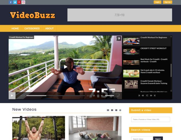 Video Website Template 1