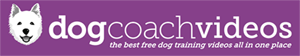 Dog Coach Videos logo - the best free dog training videos and dog video clips, all in one place